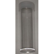 10 BCW Clear Round Penny / Cent Coin Tubes With Frosted Screw On Cap
