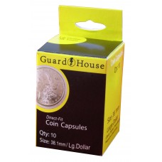 10 Pack Guardhouse 38.1mm Silver Dollar Round Direct Fit Coin Capsules holders