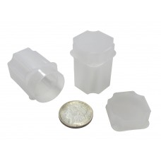 10 Guardhouse Translucent Plastic 38.1mm Silver Dollar Square Coin Storage Tubes