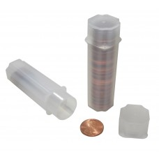 10 Guardhouse Translucent Plastic 19mm Penny / Cent Square Coin Storage Tubes