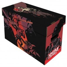 10 BCW Short Cardboard Comic Book Storage Boxes with Hellboy in Hell Art Design