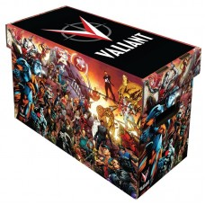 10 BCW Short Cardboard Comic Book Storage Boxes w Valiant Universe Art Design