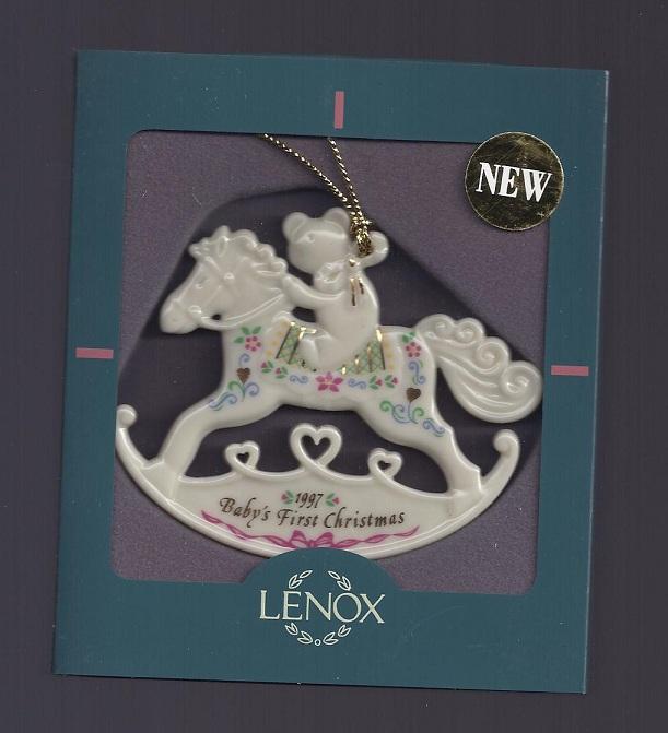 lenox 1997 babys first christmas rocking horse ornament babys 1st rockinghorse