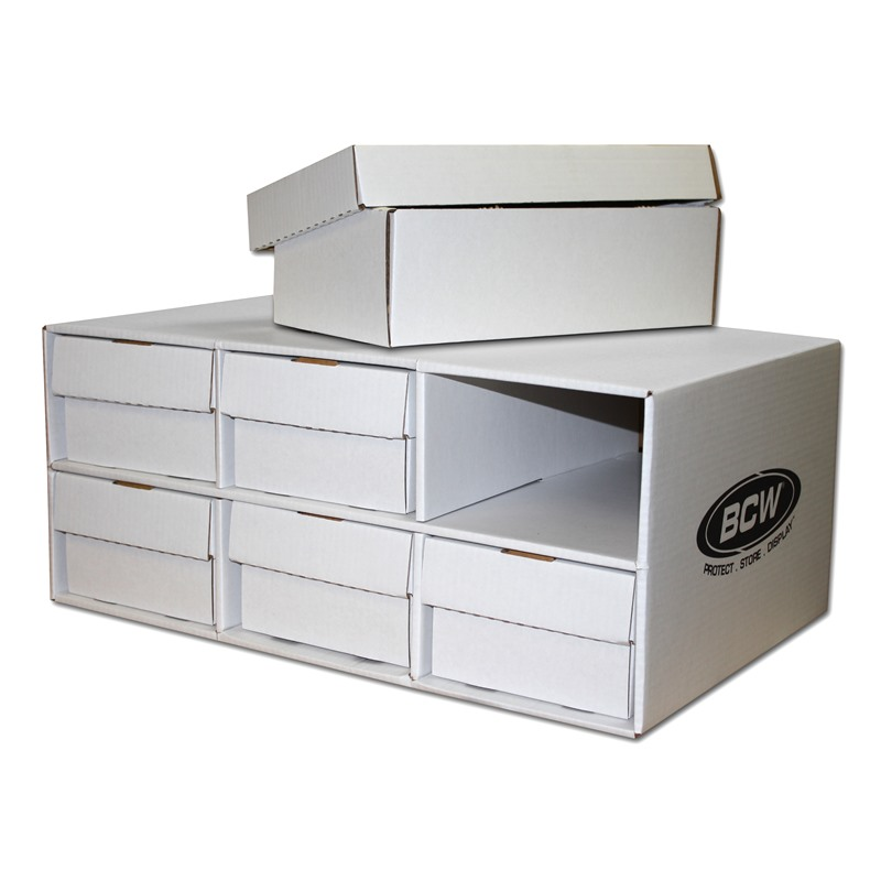 fd2544a43e1 BCW Corrugated Cardboard Shoe Box Storage House for 6 Trading Card 2-Row  Boxes