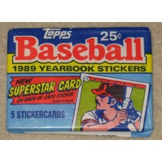 Unopened Pack 1989 Topps Baseball Yearbook Stickers