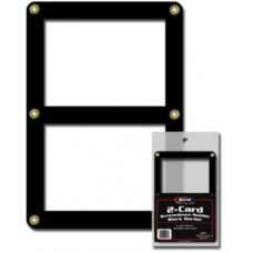 BCW Double Card Black Border Screwdown 2 Trading Card Holder