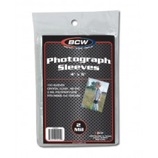 Pack of 100 BCW 4X6 Photo Size Soft 2 Mil Poly Sleeves