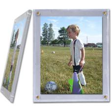 BCW 5x7 Clear Polystyrene Photo Screwdown Holder 5X7