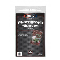 Pack of 100 BCW 6X9 Photo Size Soft 2 Mil Poly Sleeves