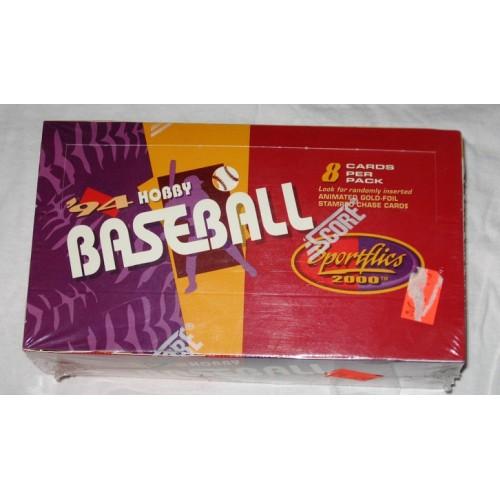 Sealed 24 Pack Hobby Box 1994 Score Sportflics Baseball Cards