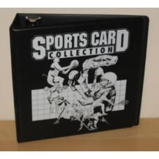 "BCW 3"" Black Sports Card D-Ring Album binder"