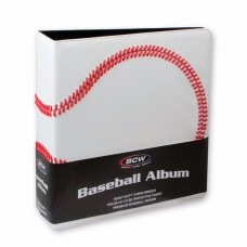 BCW 3 Inch Premium White Baseball Card Collectors Album 3-Ring Binder