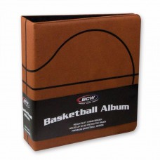 BCW 3 Inch Premium Brown Basketball Card Collectors Album 3-Ring Binder