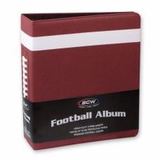 BCW 3 Inch Premium Brown Football Card Collectors Album 3-Ring Binder