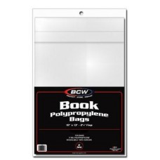 100 BCW 10 x 13 Archival Safe Book Poly Bags Non-Reseal