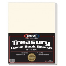 Pack of 100 BCW Acid Free Treasury Comic Book Size Backer Boards