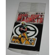 New 3 Inch Die Cut Brett Favre 1996 NFL Superstar Magnet