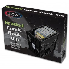 BCW Plastic Black Graded Comic Book Acid Free Storage Tote Bin