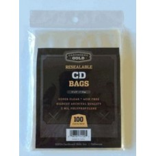 Pack of 100 CBG Resealable CD/DVD Archival Soft 2 Mil Poly Bags