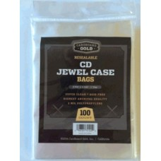 Pack of 100 CBG Resealable Jewel Case Archival 2 Mil Poly Bags