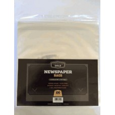 Pack of 100 CBG Newspaper 2 Mil Clear Archival Poly Bags