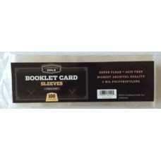 Pack of 100 CBG Booklet Card 2 Mil Archival Soft Poly Sleeves