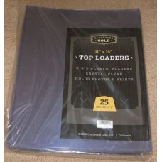 Pack of 25 CBG 11 x 14 - Hard Plastic Topload Photo Holders