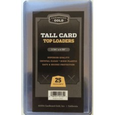 Case of 500 CBG Tall Trading Card Rigid Plastic Topload Holders