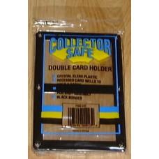 Collector Safe Double Card Black Border Screwdown 2 Card Holder