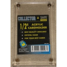 Collector Safe 1/2 Inch Acrylic 4-Screw Trading Card Holder