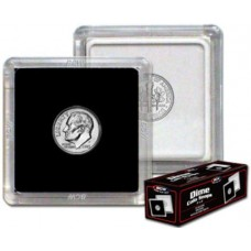 Box of 25 BCW 2X2 Coin Snaps - Dime (17.9Mm Diameter)