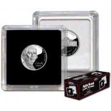 Box of 25 BCW 2X2 Coin Snaps - Nickel (21.2Mm Diameter)