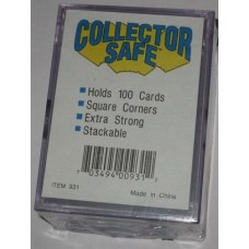 Lot of 4 Collector Safe 100 Ct 2-Piece Slider Card Boxes