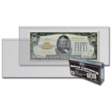 Pack of 50 BCW Deluxe Currency Holders - Large Bill Size