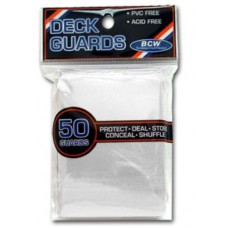 Pack of 50 BCW Clear Deck Guards For Collectible Card Games