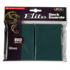 Pack of 80 BCW Teal Glossy Elite Deck Guard CCG Gaming Card Protective Sleeves