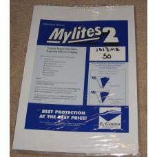 Pack / 50 Mylites 2 Mil Mylar Playboy Magazine / 10x13 Book Bags