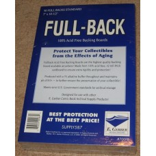 Pack 50 E Gerber Full Back Premium Silver / Bronze Comic Boards