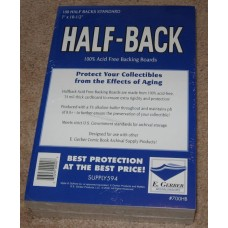 Pack 100 E Gerber Half Back Premium Silver / Bronze Comic Boards