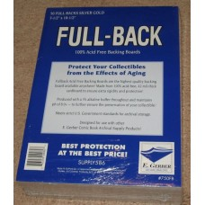 Pack of 50 E Gerber Full Back Premium Dell / Silver Comic Boards