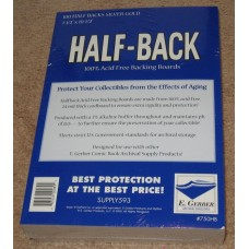 Pack / 100 E Gerber Half Back Premium Dell / Silver Comic Boards