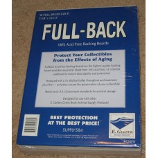 Pack of 50 E Gerber Full Back Premium Golden Comic Book Boards