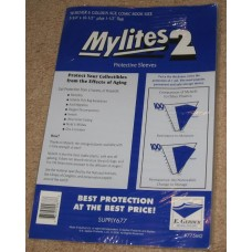 Pack of 50 Mylites 2 Mil Mylar Dell / Silver Age Comic Book Bags