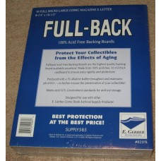 Pack of 50 E Gerber Full Back Premium Large Comic Book Boards