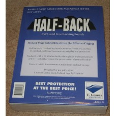 Pack of 100 E Gerber Half Back Premium Large Comic Book Boards