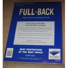 Pack of 50 E Gerber Full Back Premium Magazine Backer Boards