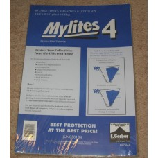 Pack 50 Mylites 4 Mil Mylar Large Comic Book /Thin Magazine Bags