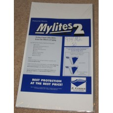 Pack of 50 Mylites 2 Mil Mylar Legal Size Document Bags sleeves
