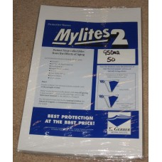 Pack of 50 Mylites 2 Mil Mylar Sheet Music / Large Magazine Bags