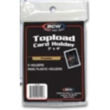 Pack of 5 BCW 3 x 4 Premium Topload Trading Card Holders